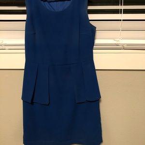 SOLD Blue tank peplum dress